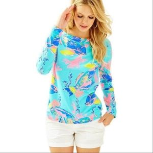 Lilly Pulitzer JoJo Shorely Blue Top XS